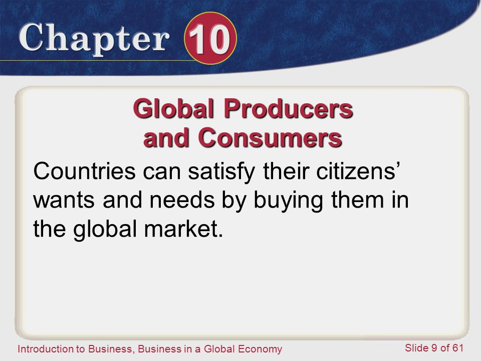 Global Producers and Consumers