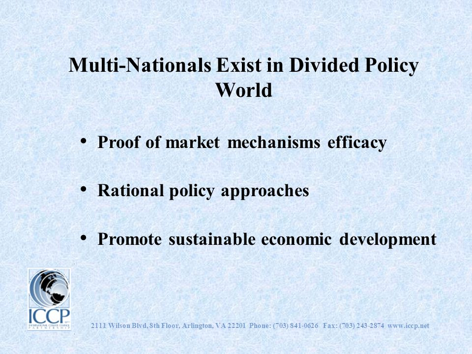 Multi-Nationals Exist in Divided Policy World