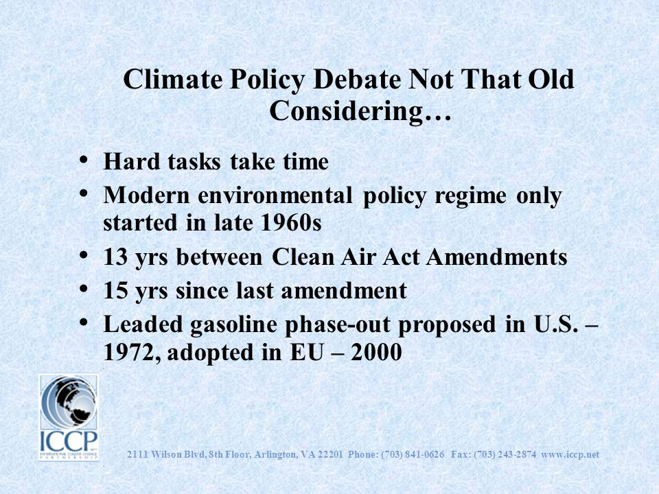 Climate Policy Debate Not That Old Considering…