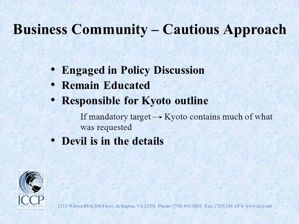 Business Community – Cautious Approach