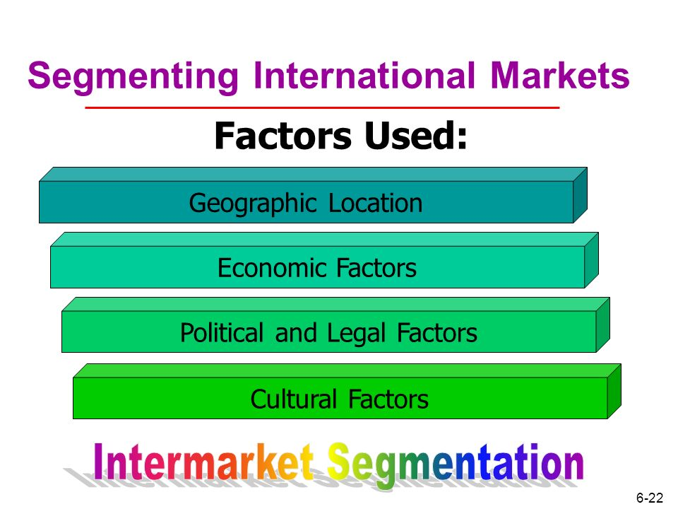 cultural factors and segment variables Types of demographic variables  marketers consider factors such as  there are many approaches you can use to segment a market and develop the best strategy to.