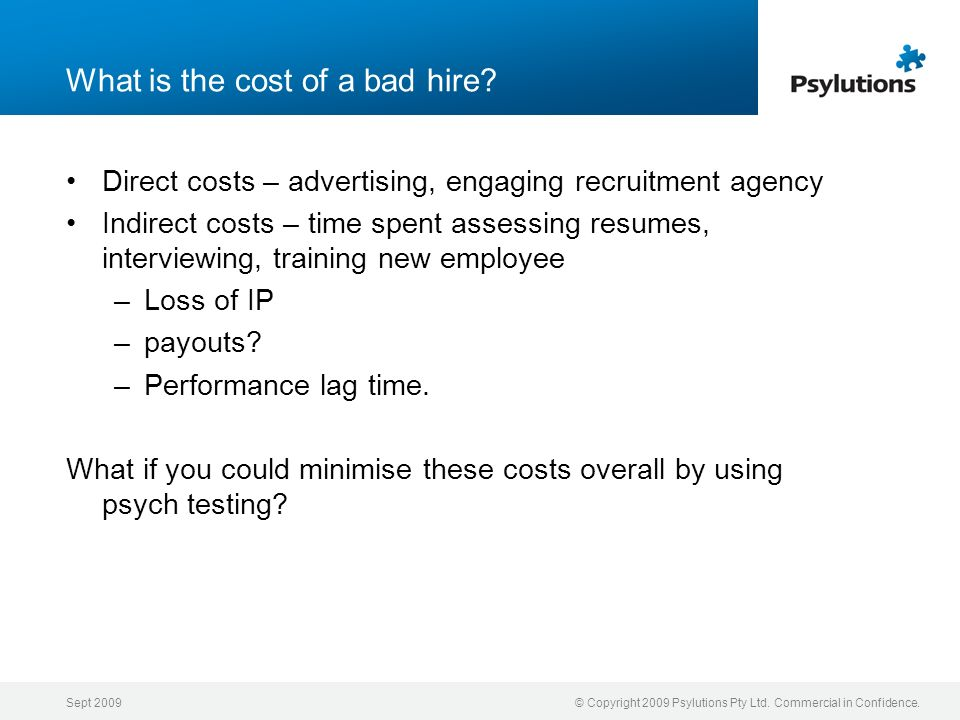 What is the cost of a bad hire