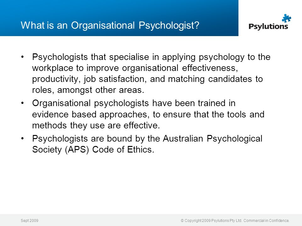 What is an Organisational Psychologist