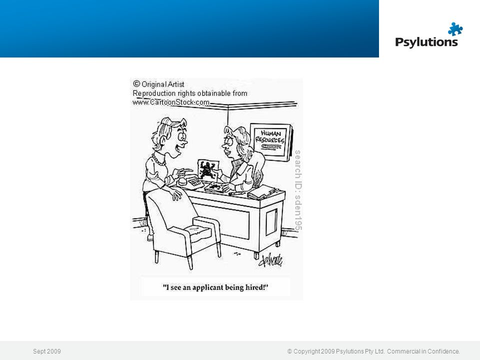 Sept 2009 © Copyright 2009 Psylutions Pty Ltd. Commercial in Confidence.