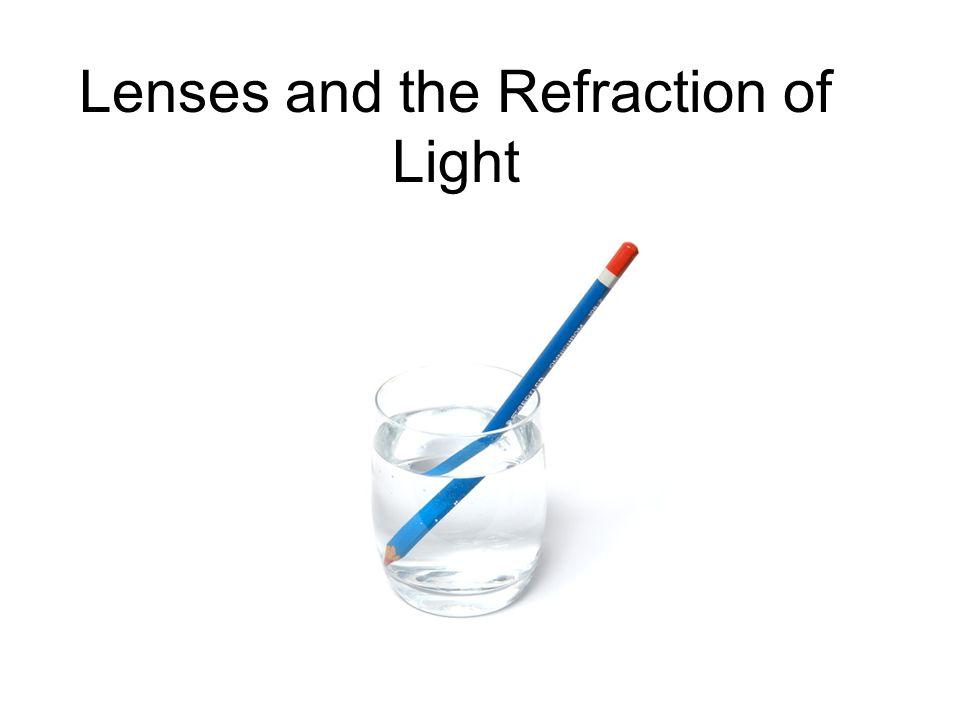 refraction of light in lenses pdf