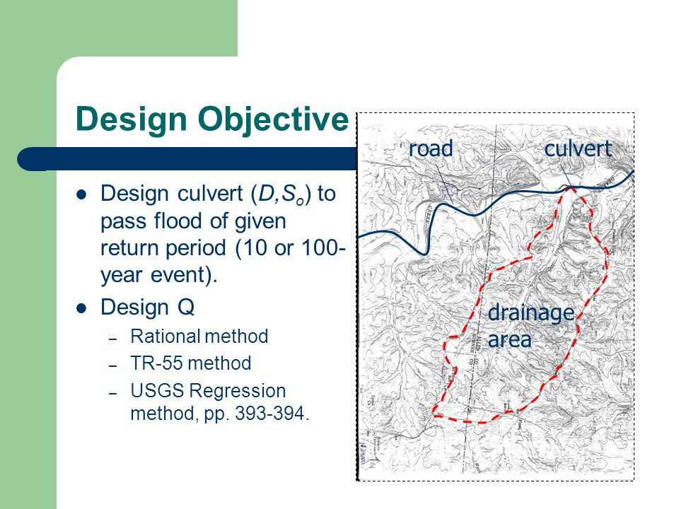 Design Objective road culvert