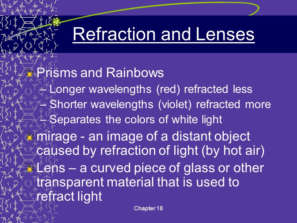 Refraction and Lenses Prisms and Rainbows