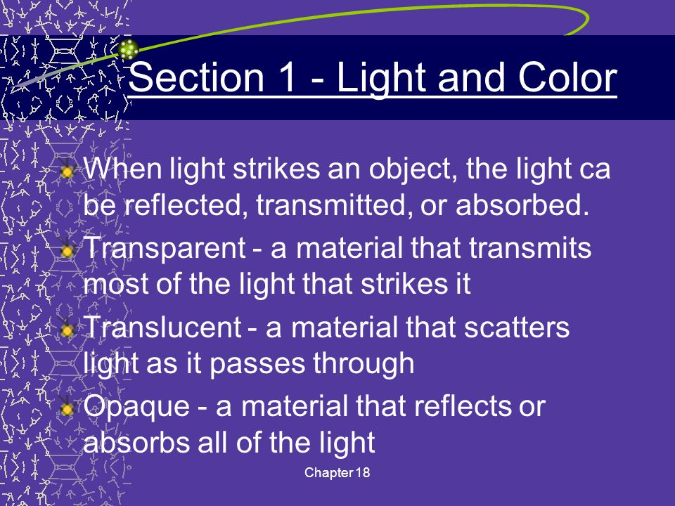 Section 1 - Light and Color