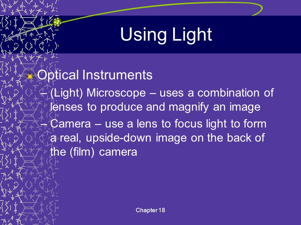 Using Light Optical Instruments