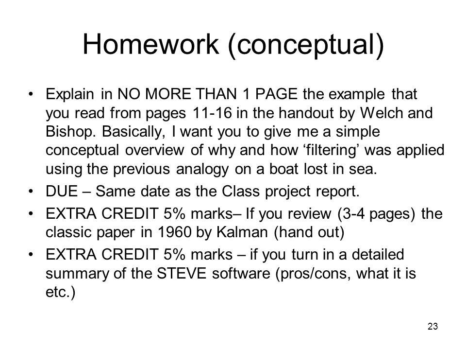 Homework (conceptual)