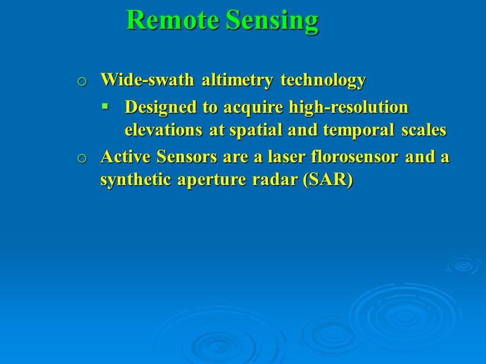 Remote Sensing Wide-swath altimetry technology