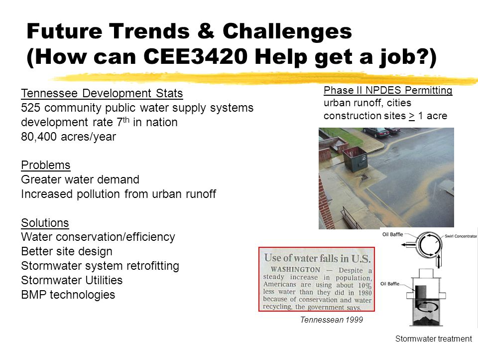 Future Trends & Challenges (How can CEE3420 Help get a job )