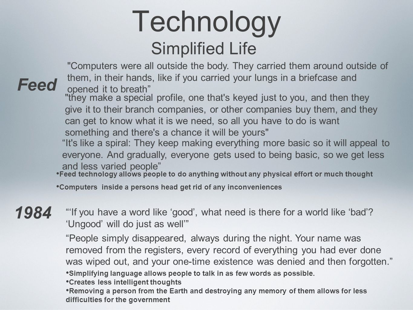 technology simplifies morden life Technology roleseach individual fulfills during life we use technology dailybasis  modern technology simplifies(简化)life somany ways  morden life (48.