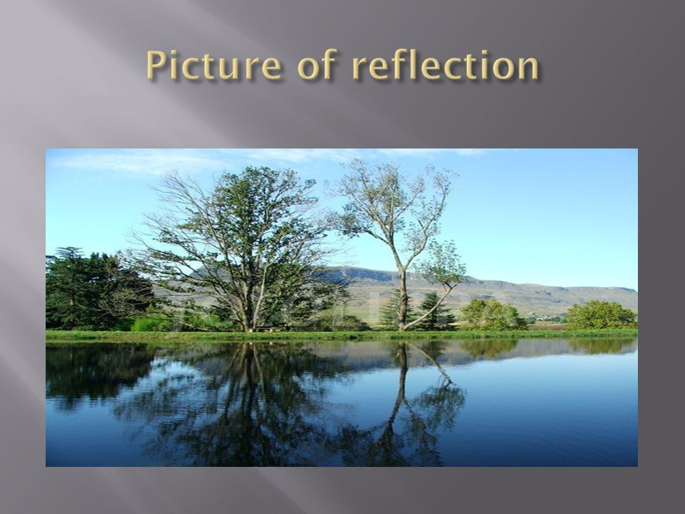 Picture of reflection