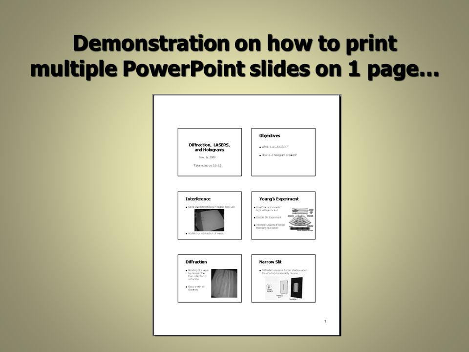 pdf of slides multiple page print