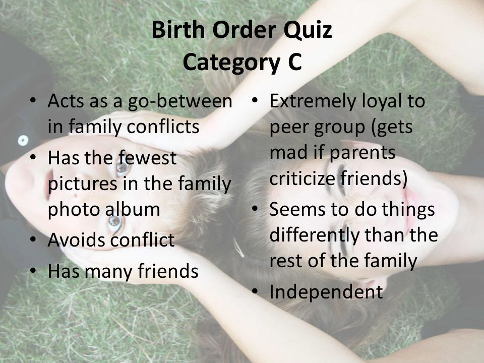 Parents Quiz: What's Your Birth Order Personality?