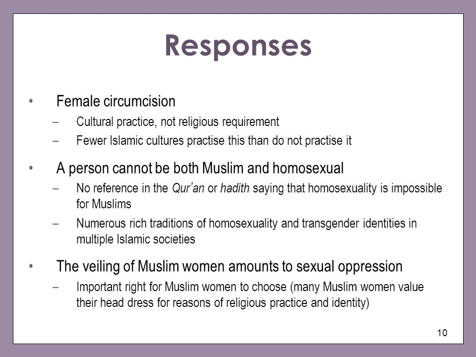 Responses Female circumcision