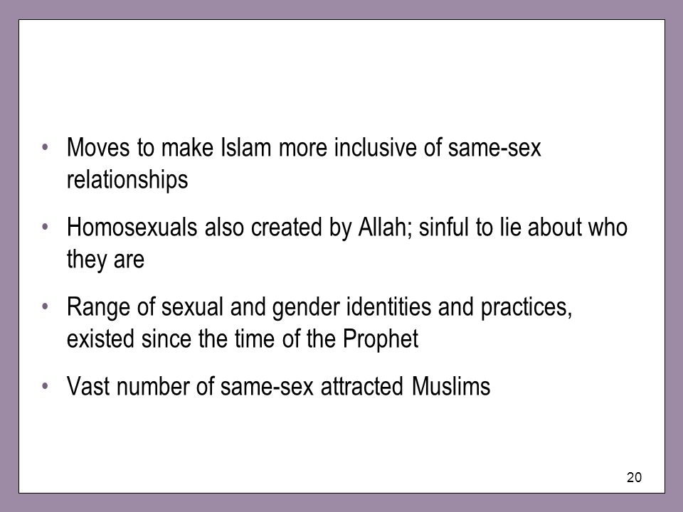 Moves to make Islam more inclusive of same-sex relationships