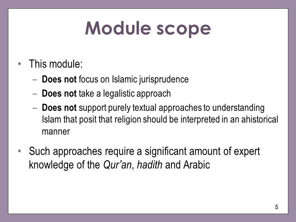 Module scope This module: