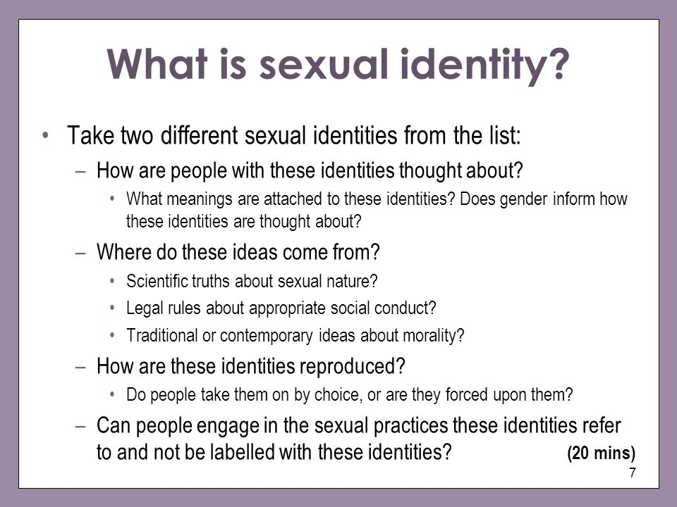 What is sexual identity