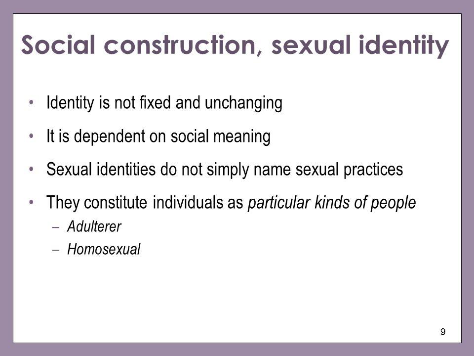 Social construction, sexual identity