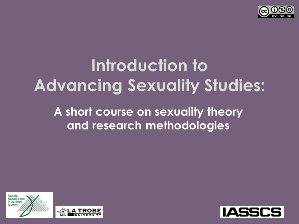Introduction to Advancing Sexuality Studies: