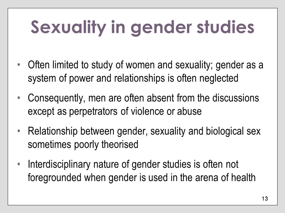 Sexuality in gender studies
