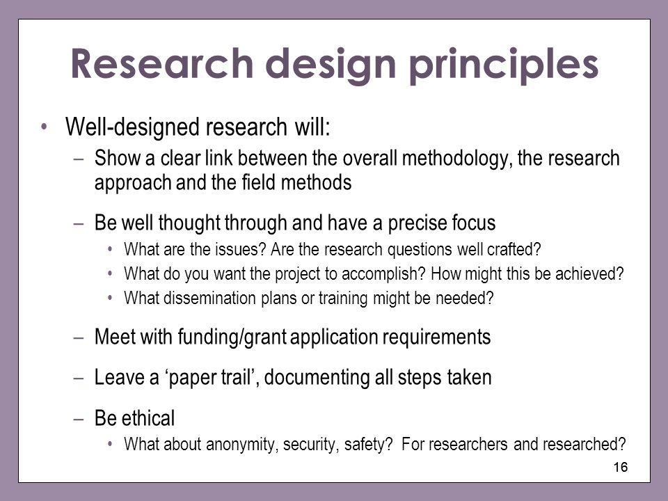 Research design principles