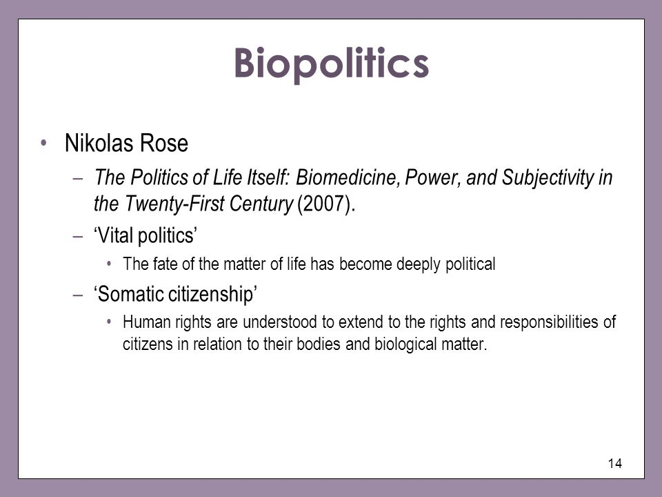 Biopolitics Nikolas Rose