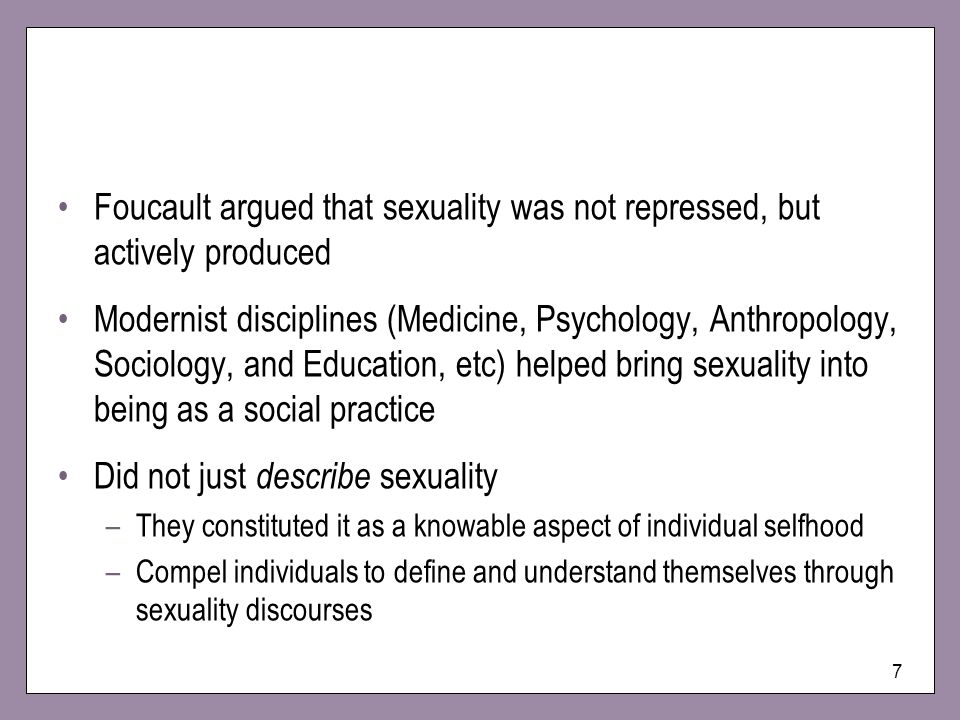 Did not just describe sexuality