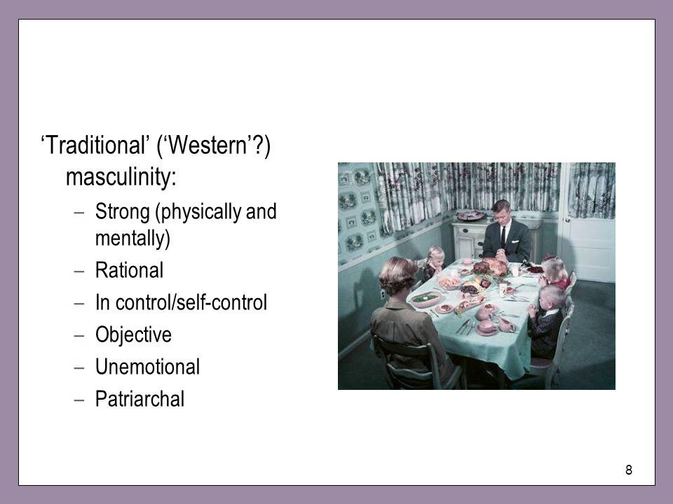 'Traditional' ('Western' ) masculinity: