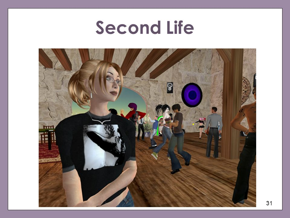Second Life We will focus now on sexuality, the body and personhood in Second Life.