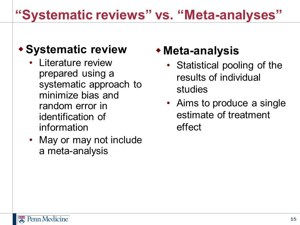 How to write a systematic review.
