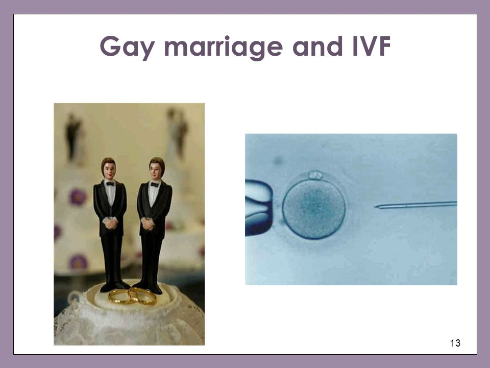 Gay marriage and IVF