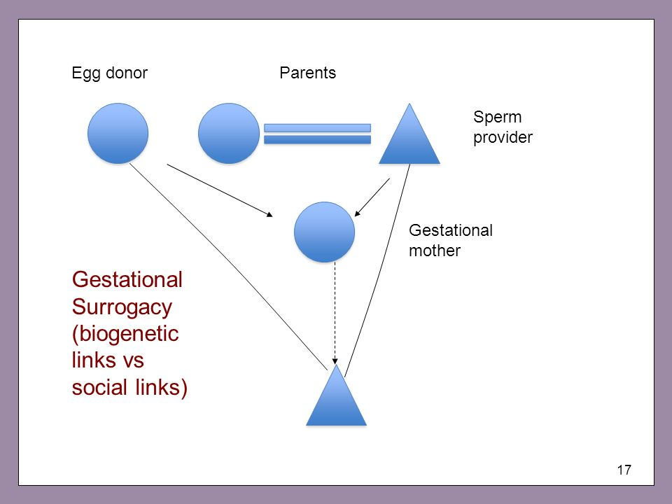 Gestational Surrogacy (biogenetic links vs social links)