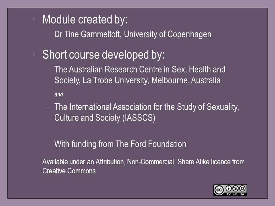 Short course developed by: