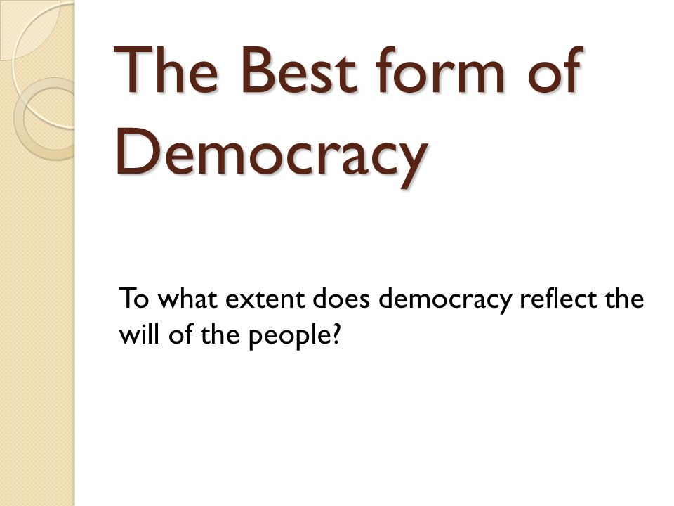 Democracy in China