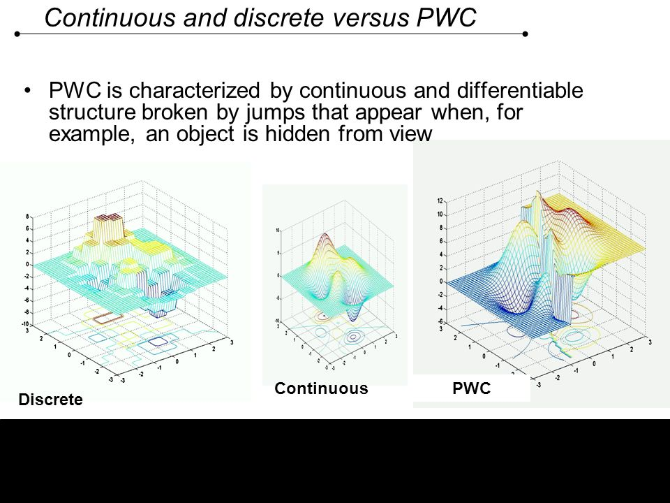 Continuous and discrete versus PWC
