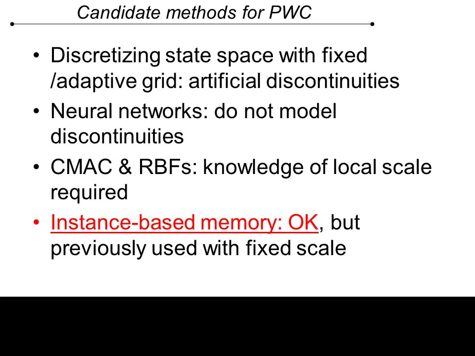Candidate methods for PWC