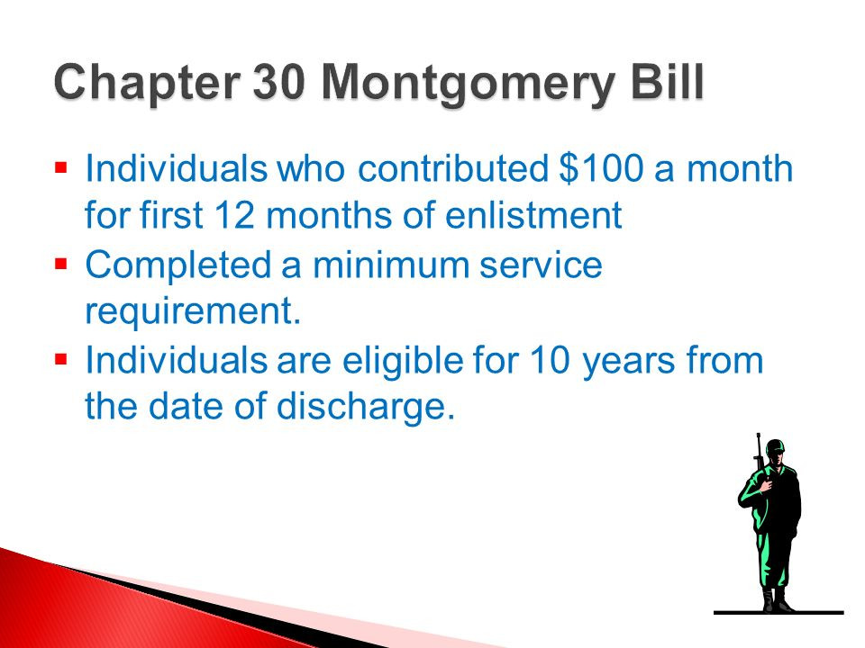 Chapter 30 Montgomery Bill