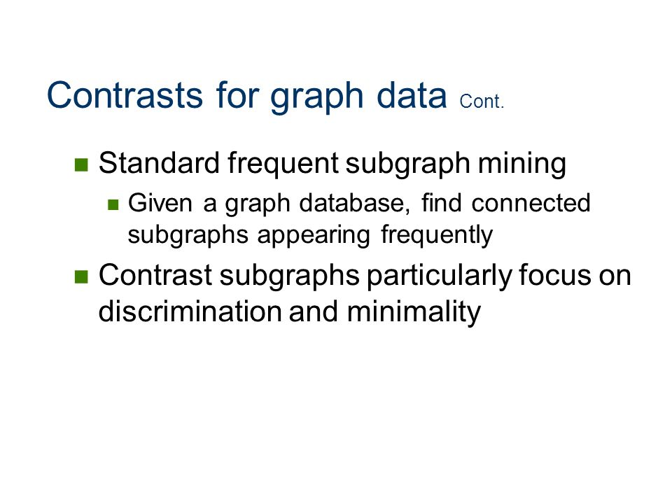Contrasts for graph data Cont.