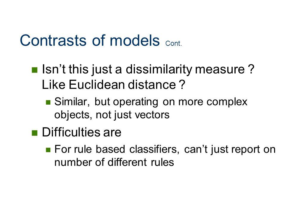 Contrasts of models Cont.