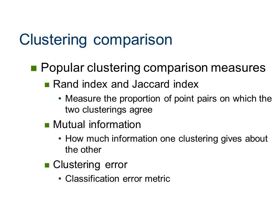 Clustering comparison