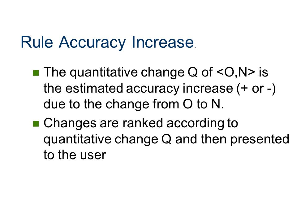 Rule Accuracy Increase.