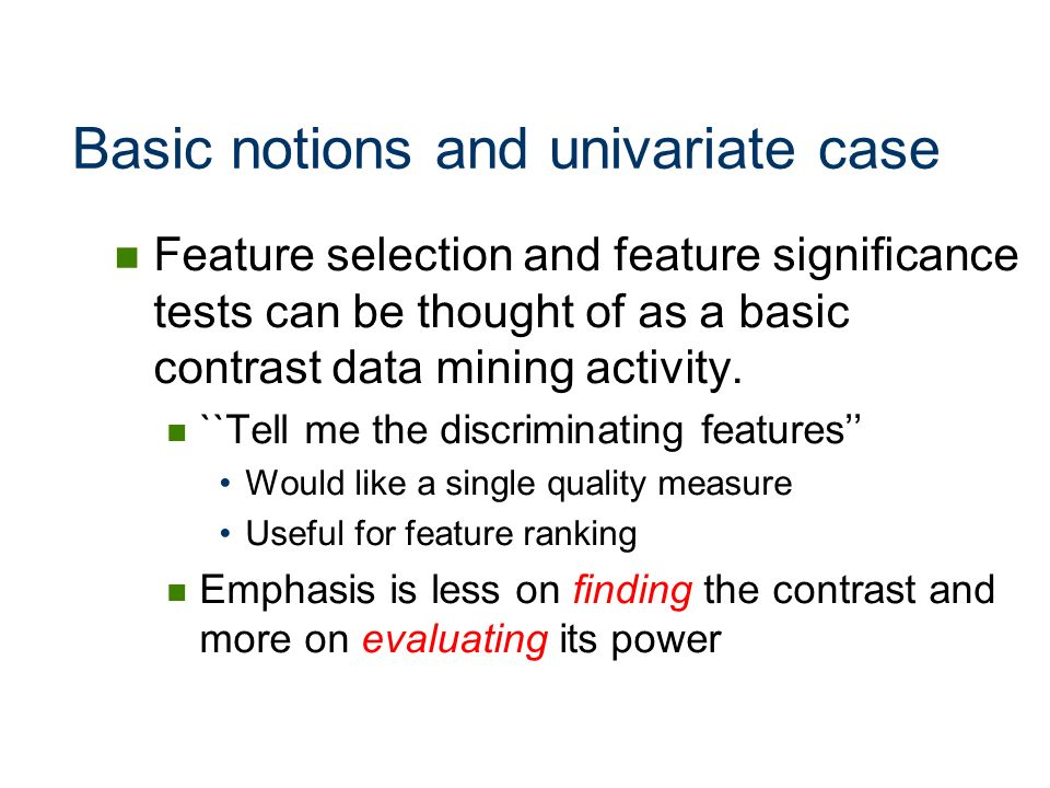 Basic notions and univariate case