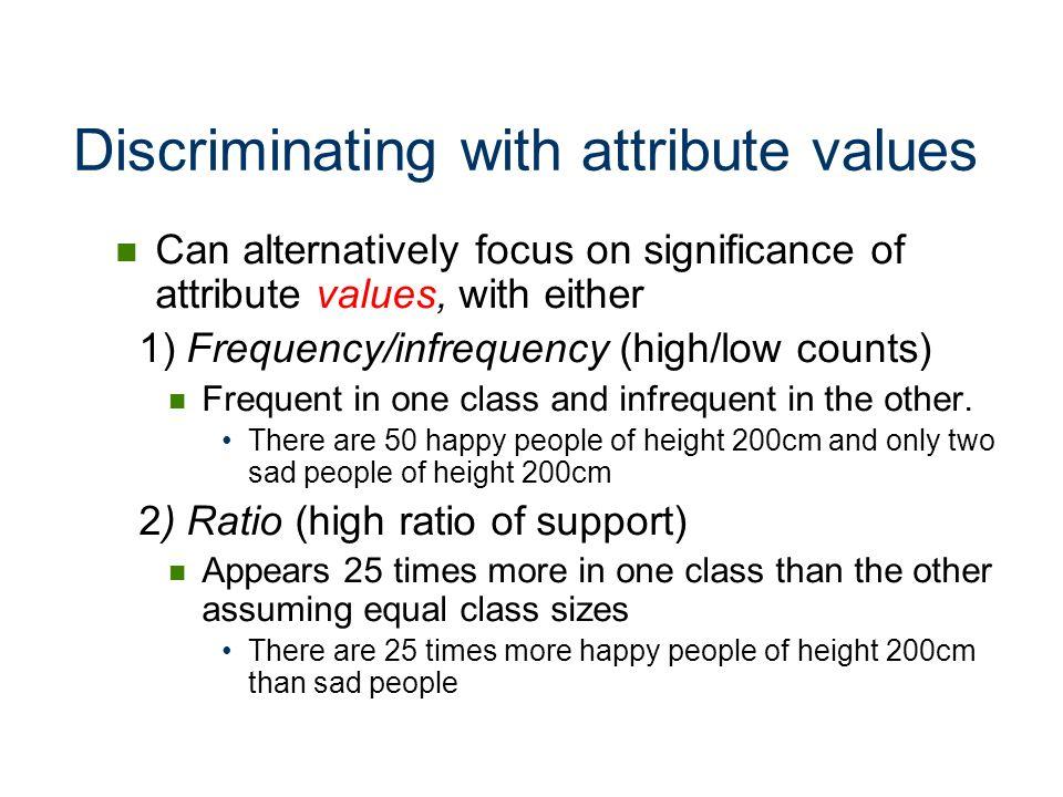 Discriminating with attribute values