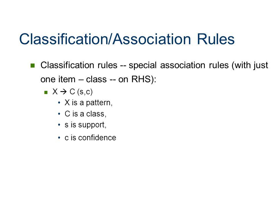 Classification/Association Rules