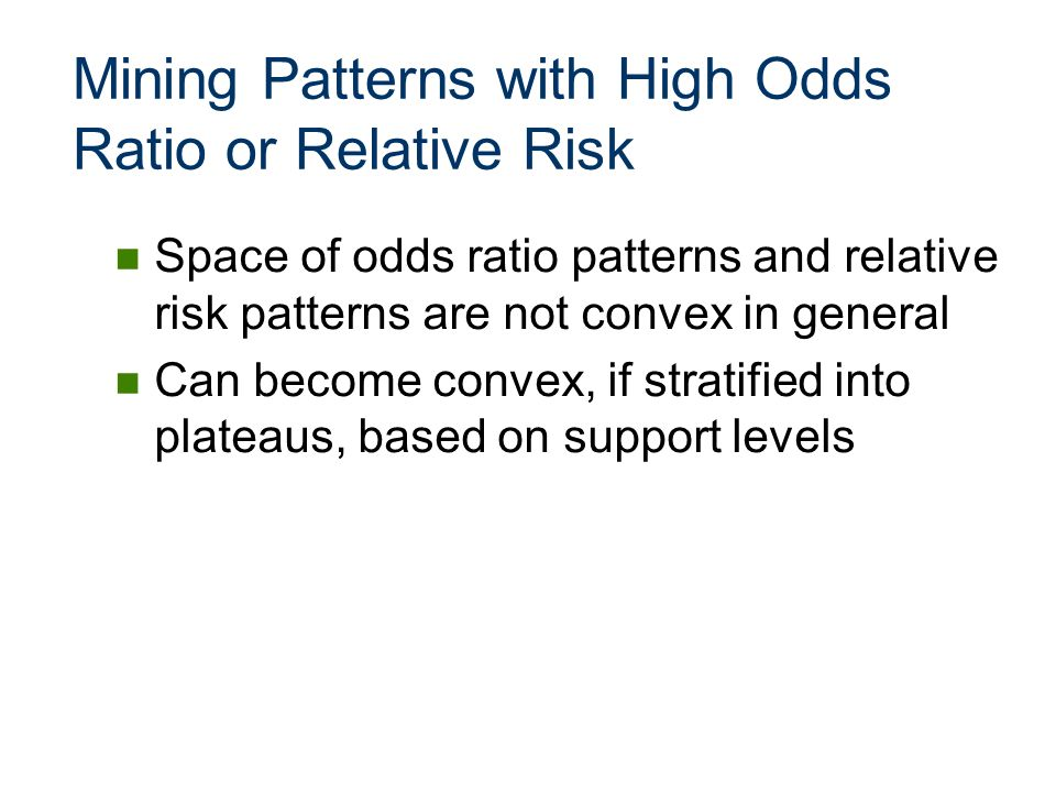 Mining Patterns with High Odds Ratio or Relative Risk