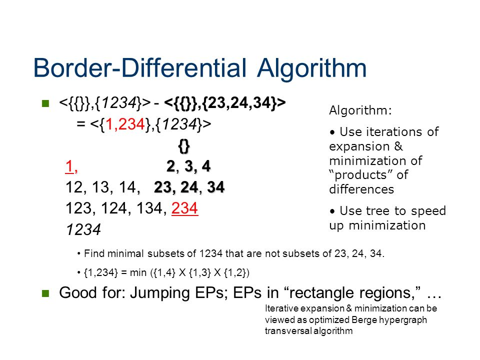 Border-Differential Algorithm