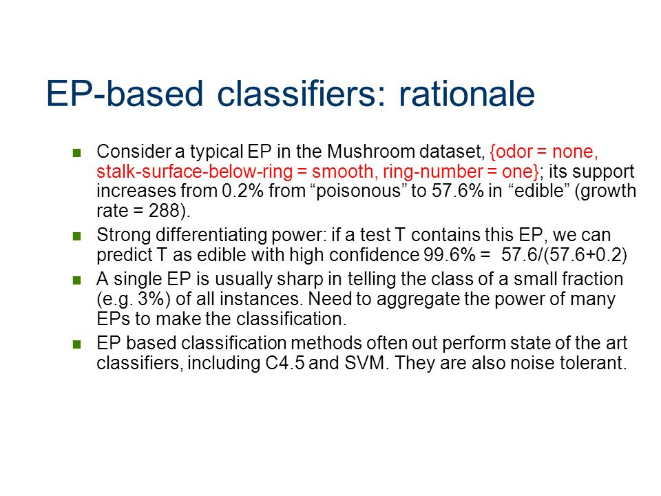 EP-based classifiers: rationale